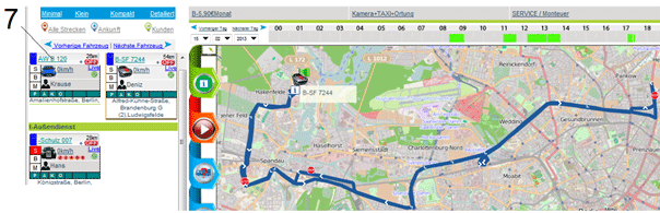 gps ortung route